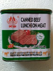 鲜香下饭340g即食午餐肉罐头批发 四川美宁牌牛肉午餐肉罐头食品