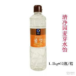 麦芽糖浆烘焙*1.2kg×12瓶 箱 清净园麦芽水饴 韩国进口糖稀
