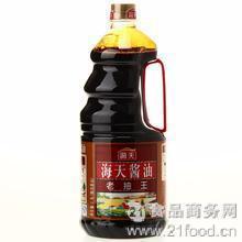 红烧肉调料非转基因黄豆 老抽 酿造酱油 老抽王1.9L*6瓶 海天