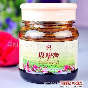 玫瑰蜂蜜膏 批发济南平阴天源玫瑰酱 平阴玫瑰膏 果酱 冲调饮品