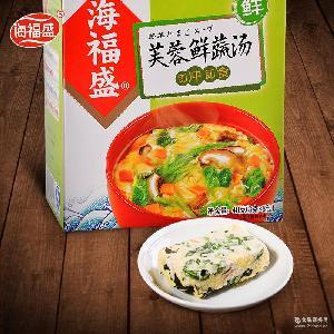 8g*5袋 冲泡即食速食速溶汤方便汤料包盒装 烟台海福盛芙蓉鲜蔬汤