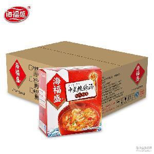 冲泡速溶方便汤 海福盛中式酸辣汤 整箱批发50g*12盒 冻干速食汤