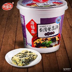 海福盛台湾紫菜汤 蔬菜高汤速溶方便汤杯装8g 即食冲泡速食汤料包