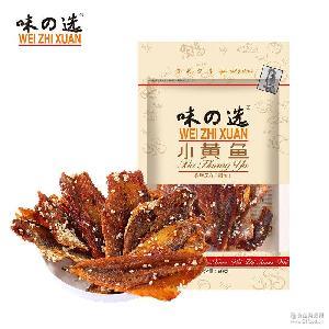 超市* 味の选即食芝麻辣味即食小黄鱼 舟山海产零食海鲜干货