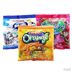 PARAGO草莓味糖 健康营养零食袋装糖果儿童软糖60g 印尼进口食品