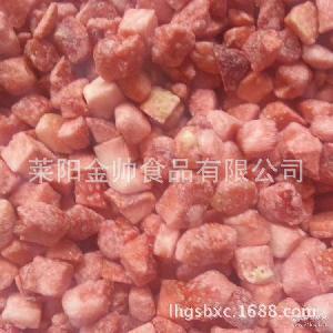 【冷冻果蔬】冷冻鲜切草莓丁 速冻草莓丁生产厂家【图】