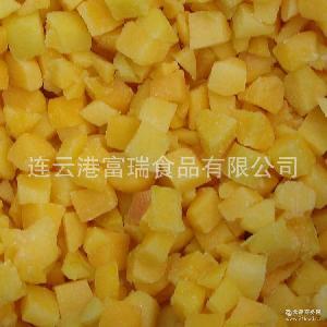 厂家热销直供冷冻黄桃半冷冻水果 冷冻黄桃条【图】 冷冻黄桃丁