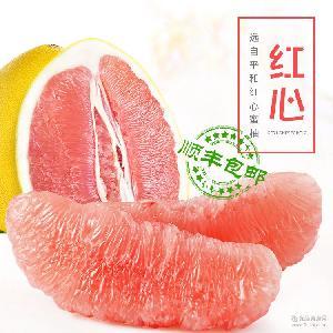 红心蜜柚平和蜜柚红心柚子 新鲜水果批发 漳州蜜柚之乡6个装批发