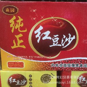 森园(纯正)红豆沙 烘焙原料雪糕面包月饼馅料 5kg/包 豆沙馅