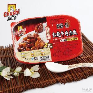 厨师饱餐一顿自热米饭户外速食方便自加热快餐单兵食品批发445g