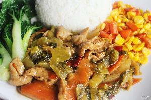 酸菜肥肠200g乐优谷料理包方便菜速食简餐快餐调理包绿色方便米饭