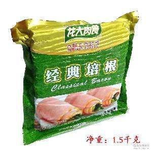 1箱 8袋 1.5KG 龙大肉食经典培根烟熏味肉片 袋 每袋大约56-58片