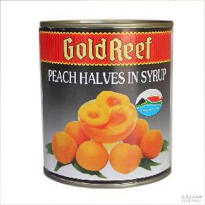 南非原装进口 *糖水蜜桃罐头 烘焙黄桃边桃水果罐头 822g/罐