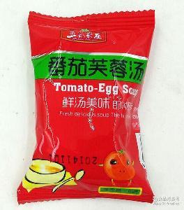 袋装 鲜汤美味开水即食方便速食汤批发 五谷农庄西红柿蛋花汤8克