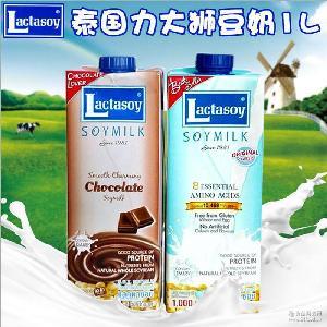 进口豆奶力大狮1L*12瓶/箱 力大狮豆浆 泰国豆奶 豆乳制品批发