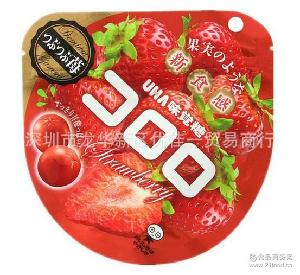 UHA悠哈 新食感40g*72包/箱 日本直达 *草莓味果汁软糖