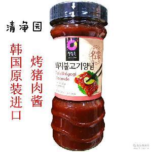 韩国清净园烤肉酱840克 12瓶/箱 烤猪肉酱 韩式烧烤调料