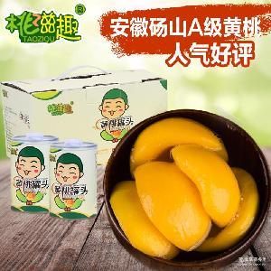 厂家直销净含量/425g 水果罐头 砀山黄桃罐头 桃滋趣糖水黄桃罐头