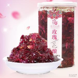 云南果酱自制玫瑰酱批发手工玫瑰花酱糖玫瑰膏蓝莓草莓桂花酱400g