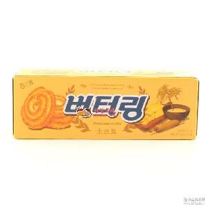 86g*24盒/箱 韩国进口九州娱乐官网零食批发 海太黄油曲奇饼干