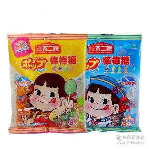 美味小零食儿童* 包 不二家 袋(4种口味混装)10袋 棒棒糖8支