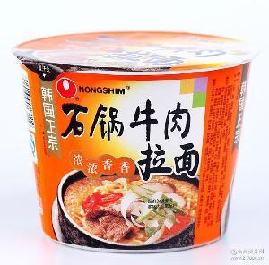 石锅牛肉拉面117g*16碗 即食方便面米线类方便面面农心单碗拉面