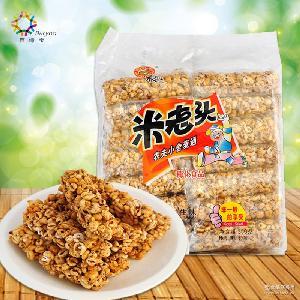 米老头麦通350g*10包/箱芝麻味花生味休闲食品膨化小吃厂家直批发