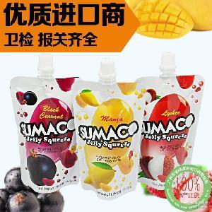 马来西亚进口布丁 素玛哥牌芒果味荔枝味 可吸果冻150g*36袋/箱