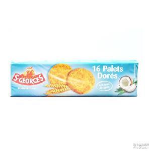 法国原装进口圣乔治椰子曲奇饼干125g办公室休闲零食品早餐小点心