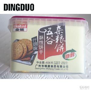 木糖醇食品批发 桶装全统什锦味五谷杂粮高纤燕麦饼 无糖饼干