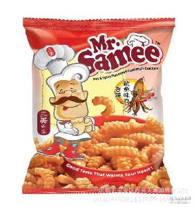 原装进口马来西亚妙妙旗下膨化食品三美先生膨化零食袋装70gx30包