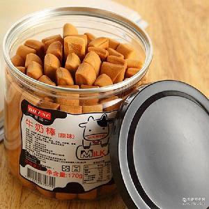 办公室休闲零食 台湾进口布诺牛奶棒170g原味饼干 台湾食品