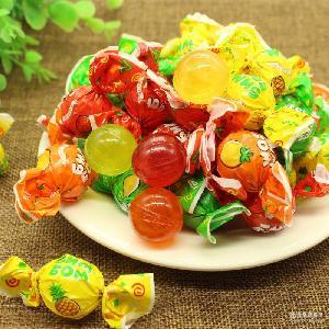 水果硬糖 乒乓球糖 批发 喜糖 果酱夹心 俄罗斯进口食品糖果