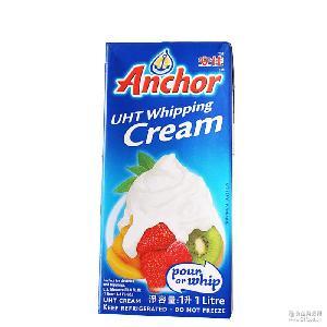 烘焙原料 原装进口安佳淡奶油 1L*12 动物性奶油 裱花奶油
