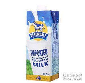 新老包装随机发 德运 全脂纯牛奶1L*12盒 澳大利亚进口 整箱