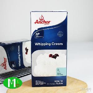 可打发新西兰原装淡奶油批发12*1L 烘焙原料安佳淡奶油动物性奶油