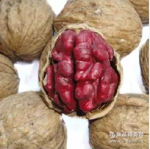 孕妇儿童零食红心紫皮核桃坚果不涩野生红皮核桃新疆核桃