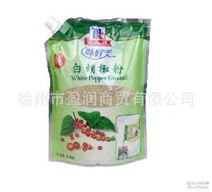 促销批发 味好美纯白胡椒粉500g*12袋 餐饮烹调专用 烧菜好调料