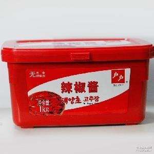 厂家直销家用韩式户户调味辣椒酱 餐饮调味酱辣椒酱批发 辣椒酱