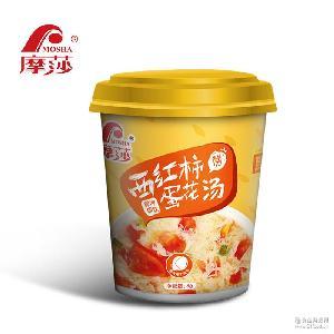 摩莎西红柿蛋花汤鲜蔬汤宵夜速食汤速溶汤方便汤汤包8g杯装包装