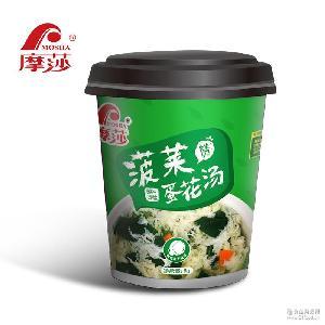摩莎菠菜蛋花汤鲜蔬汤宵夜速食汤速溶汤方便汤汤包8g杯装包装