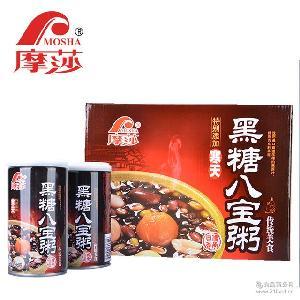 摩莎MOSHA摩莎黑糖八宝粥罐头口味*高营养开罐即食360g12罐装