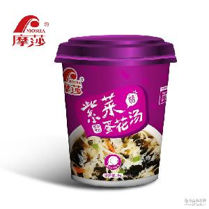 摩莎紫菜蛋花汤鲜蔬汤宵夜速食汤速溶汤方便汤汤包8g杯装包装