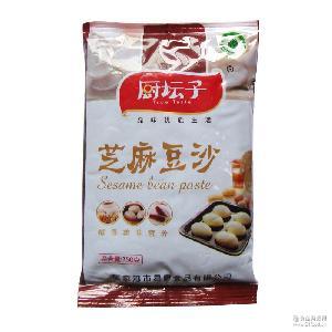 烘焙原料 厨坛子芝麻豆沙350克 汤圆粽子粥陷料F