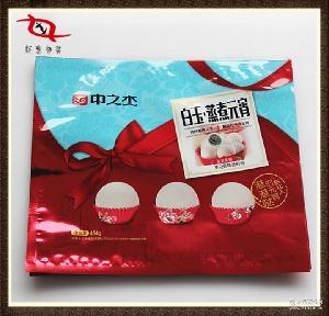 供应冷冻速冻面点食品厂馒头豆沙包子系列高档镀铝阴阳开窗包装袋