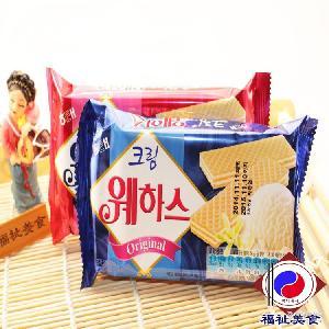海太威化夹心饼干 韩国零食批发 40包/箱