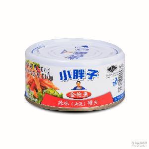 小胖子 辣味金枪鱼油浸罐头 180g罐 泰国进口鱼肉即食品 水产罐头