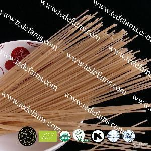 200g/包 有机天然低热量低钠糙米宽丝面-香米意面系列