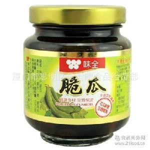 味全脆瓜170g*12瓶 腌鲜脆黄瓜 开胃凉菜配粥下饭 台湾进口酱菜