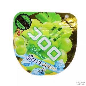 日本进口零食悠哈UHA*青提子青葡萄果汁软糖味觉糖40g